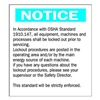 Brady 25922 Notice Security Sign, 14 x 10In, PLSTC, ENG