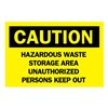 Brady 22279 Caution Sign, 10 x 14In, BK/YEL, ENG, Text