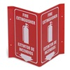 Prinzing V3FE15A Fire Extinguisher Sign, 11 x 12In, WHT/R