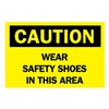 Brady 74740 Caution Sign, 10 x 14In, BK/YEL, Fiberglass