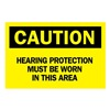 Brady 84785 Caution Sign, 10 x 14In, BK/YEL, ENG, Text