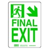Brady 81725 Exit Sign, 14 x 10In, GRN/WHT, Final Exit
