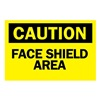 Brady 84984 Caution Sign, 10 x 14In, BK/YEL, ENG, Text