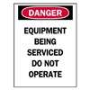 Brady 66008 Danger Sign, 5 x 3-1/2In, R and BK/WHT, ENG
