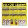 Brady 51196 Lockout Station, Filled, 21-1/2 In H