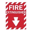 Brady 25717 Fire Extinguisher Sign, 14 x 10In, WHT/R