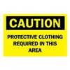 Brady 84546 Caution Sign, 10 x 14In, BK/YEL, ENG, Text