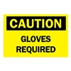 Brady 70358 Caution Sign, 10 x 14In, BK/YEL, Fiberglass