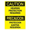 Brady 39086 Caution Sign, 14 x 10In, BK/YEL, Bilingual