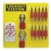 Brady 51187 Lockout Station, Filled, 26 Components