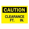Brady 42387 Caution Sign, 10 x 14In, BK/YEL, AL, ENG
