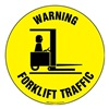 Brady 97615 Warning Sign, 17 x 17In, BK/YEL, ENG, TRFC