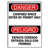 Brady 90803 Danger Sign, 14 x 10In, R and BK/WHT, Text
