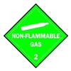 Brady 63407 Vehicle Placard, Non Flam Gas with Picto