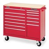 Westward 4FB48 Rolling Cabinet, 41 W, 13 Drawer, Red