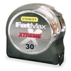 Stanley 33-895 Measuring Tape, 30 Ft, Chrome/Blk, Forward