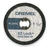 Dremel EZ476 E Z Lock Cut Off Wheel, 1 1/2 In Dia, Pk 5