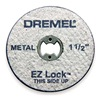 Dremel EZ456 E Z Lock Cut Off Wheel, 1 1/2 In Dia, Pk 5