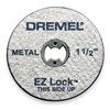 Dremel EZ456 E Z Lock Cut Off Wheel, 1 1/2 In Dia, Pk 5