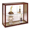 Waddell Display 894M-MB-H Wall Mounted Display Case, Honey Maple
