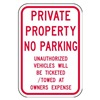 Brady 80077 Parking Sign, 18 x 12In, R/WHT, Text, MUTCD