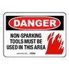 Ampco DANGER SIGN Danger Sign, 10 x 14In, BK and R/WHT, ENG