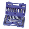 Westward 1KEH7 Socket Set, 3/8 In Drive, 6 Pt, 49 PC
