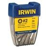 Irwin 357320 Phillips Insert Bit, #2, 1 In L, 1/4, Pk 20