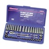 Westward 1KEH6 Socket Set, 1/4 In Drive, 6 Pt, 44 PC