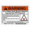 Brady 102307 Arc Flash Protection Label, PK 100