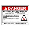 Brady 101951 Arc Flash Protection Label, PK 5