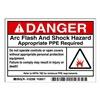 Brady 102308 Arc Flash Protection Label, PK 100