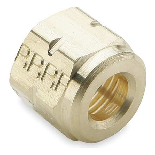 3//8 Tube Size Parker Hannifin 640F-6-pk10 Cap Nut 45 Degree Flare Fitting Pack of 10 Brass