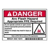 Brady 52023 Arc Flash Protection Label, PK 100