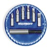 Westward 1VXP7 Screwdriver Bit Set, 1/4 Hex Dr, 7 Pc