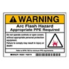 Brady 52021 Arc Flash Protection Label, PK 100