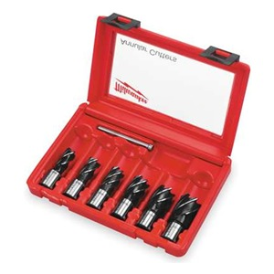 Milwaukee 49-22-8400 Annular Cutter Kit, 6 Cutters, 1 Bit, 7 Pc Be the ...