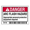 Brady 81105 Arc Flash Protection Label, 2 In. H, PK100