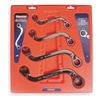 Westward 1LCE9 Ratcheting Wrench Set, SAE, 12 pt., 4 PC