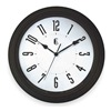 Geneva 4637G Quartz Clock, Round, Black