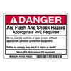 Brady 101953 Arc Flash Protection Label, PK 5