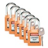 Brady 51347 Lockout Padlock, Fiberglass, Orange, PK 6