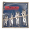 Westward 1ECF6 Locking Pliers Set, 5, 6, 7, 10 In, 4 Pc