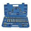Westward 1EZR7 Socket Set, Metric, 3/8 In Dr, 39 PC