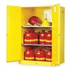 Justrite 899020 Flammable Safety Cabinet, 90 Gal., Yellow