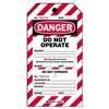 Brady 105373 Lockout Tag, 7-1/2 x 4 In, Do Not Opr, PK25
