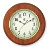 Geneva 3907G Quartz Clock, Round, Oak