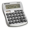 Victor 1100-3A Portable Calculator, LCD, 10 Digits