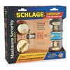Schlage FB350N V PLY 505/605 Knob and Deadbolt, Plymouth, Brass