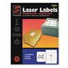 Simon By Sjpaper SL24003 Laser Label, 2x4In, PK 25, White